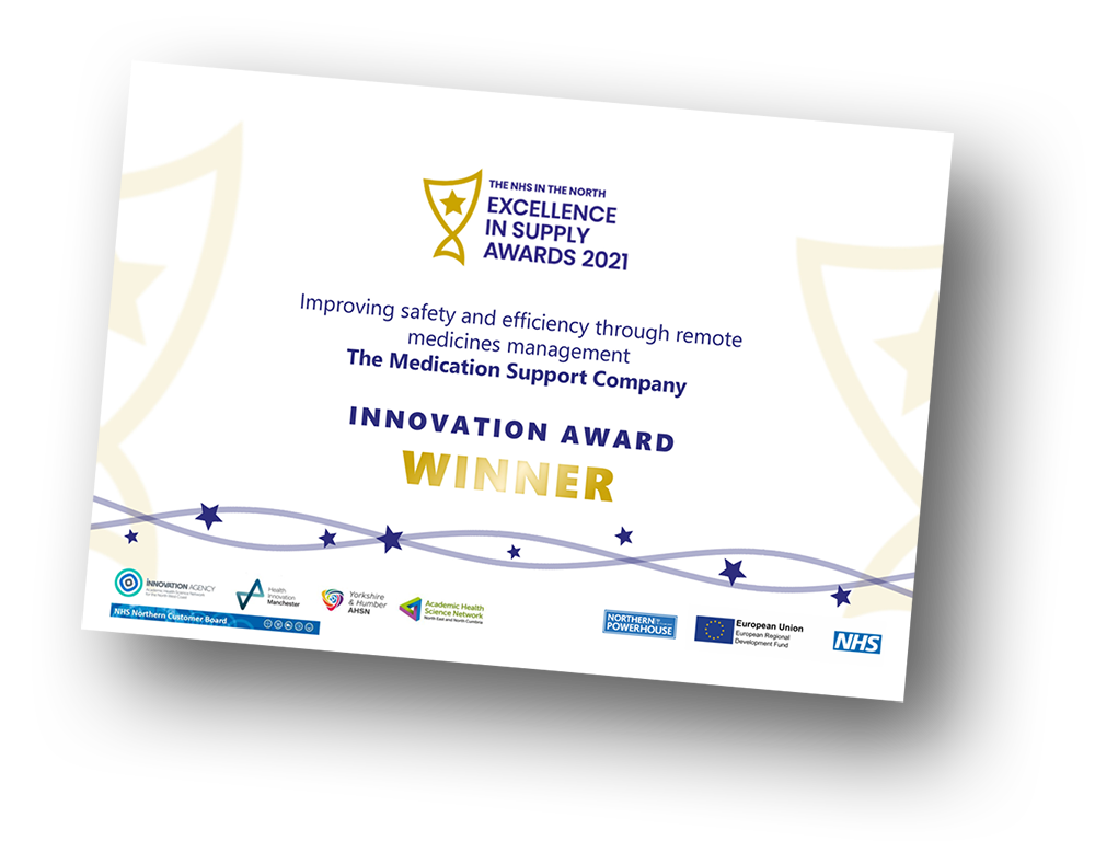 NHS in the NORTH, EXCELLENCE IN SUPPLY AWARDS 2021, WINNER